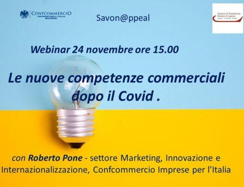 Le nuove competenze commerciali dopo il Covid – webinar 24 novembre ore 15.00