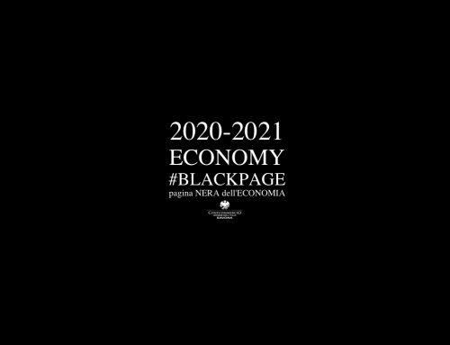 2020-2021 ECONOMY #BLACKPAGE #Confcommercio